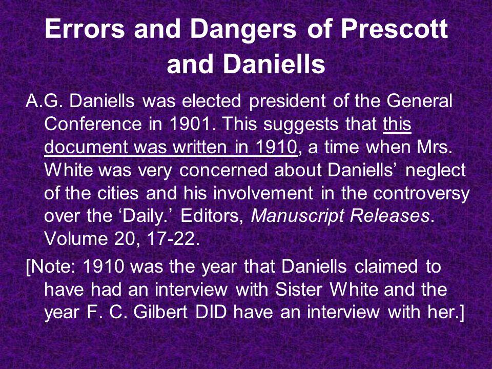 Errors and Dangers of Prescott and Daniells A.G.