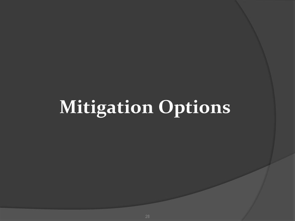 Mitigation Options 28