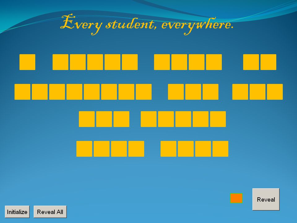 B OK IDWLUOEILKTO ELRTOHTETHANM WOHEWRTO SI T H O T Every student, everywhere.