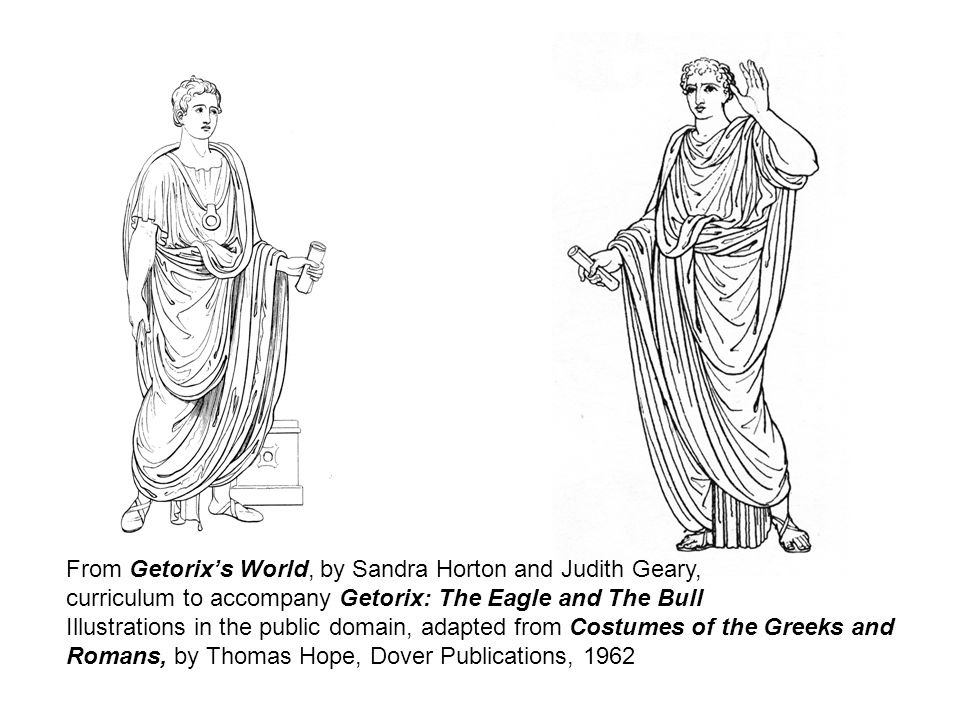 From Getorixs World, by Sandra Horton and Judith Geary, curriculum to accompany Getorix: The Eagle and The Bull Illustrations in the public domain, ad
