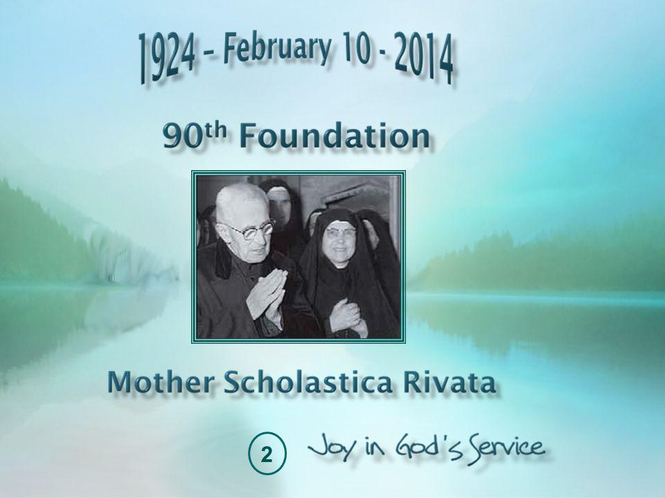 Nostalgia for Paradise Mother Scholastica had already seen many of the sisters with whom she had begun her journey depart for paradise, but on November 21, 1971, the death of the Founder would be incisive in her life.