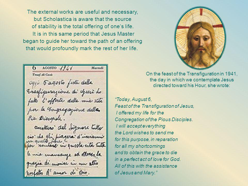 On April 3, 1947, Holy Thursday, the Pious Disciples of the Divine Master are approved by the Church through the decree signed by the bishop of Alba, Msgr.