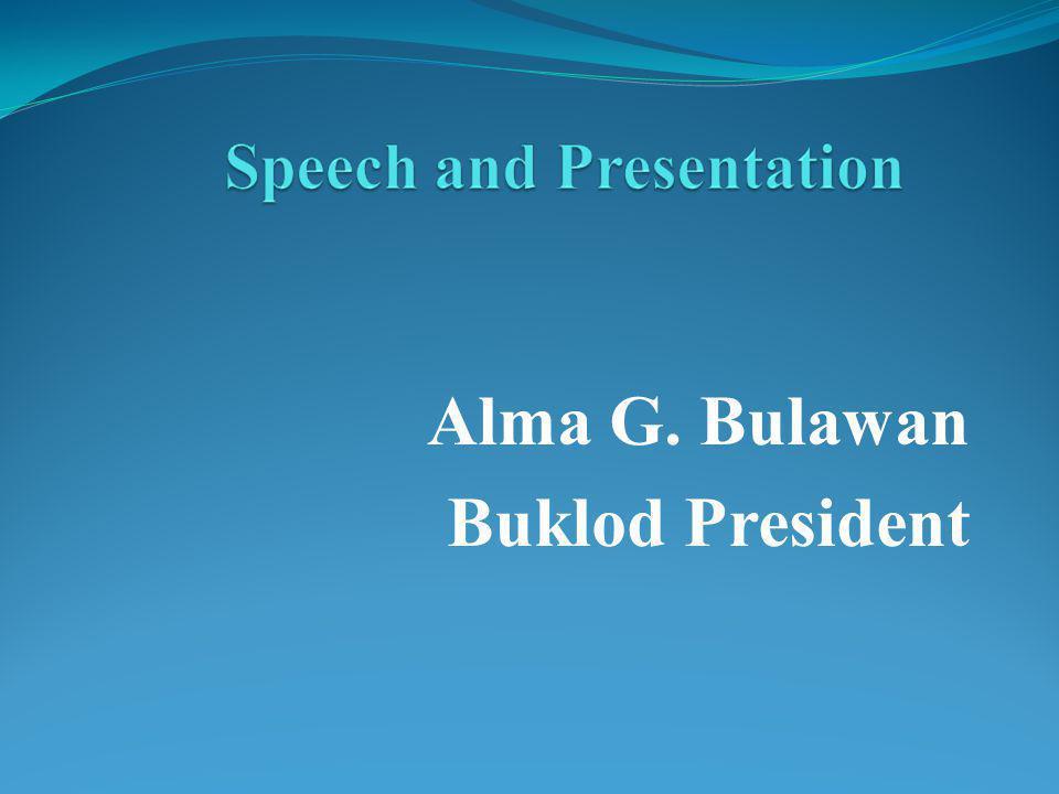 Alma G. Bulawan Buklod President
