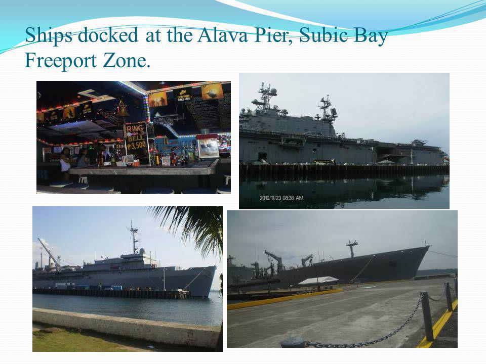 Ships docked at the Alava Pier, Subic Bay Freeport Zone.