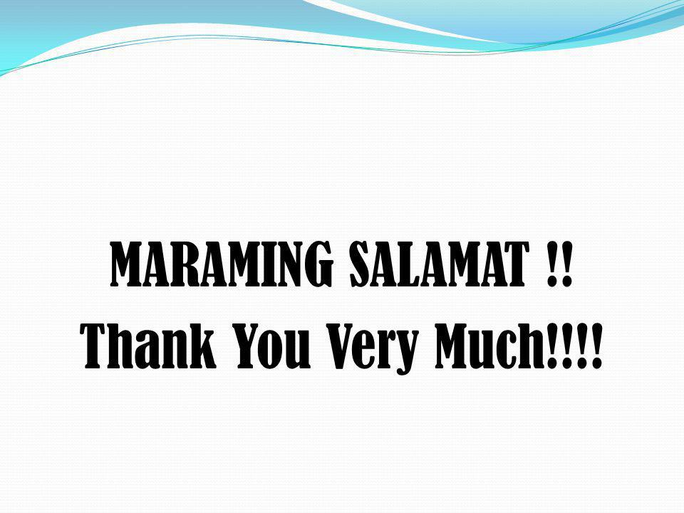 MARAMING SALAMAT !! Thank You Very Much!!!!