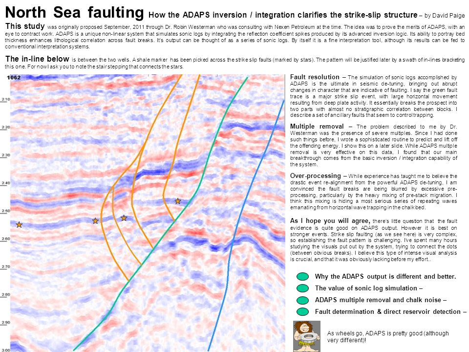 North Sea faulting How the ADAPS inversion / integration clarifies the strike-slip structure – by David Paige This study was originally proposed Septe