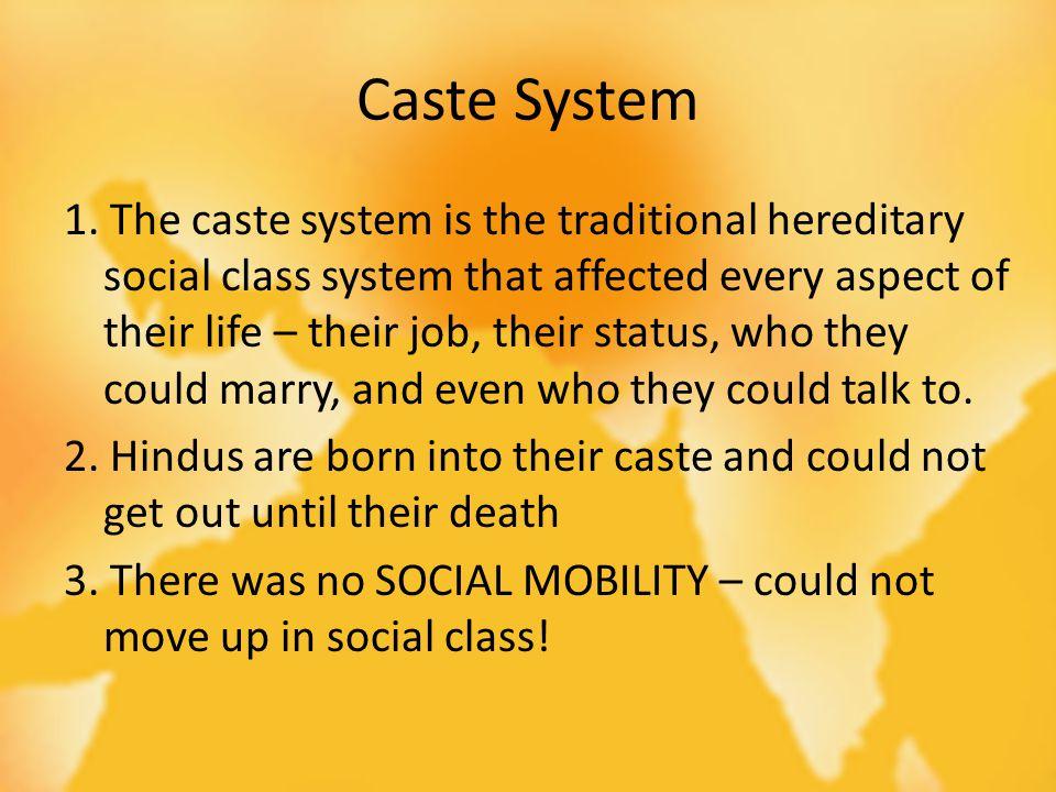 Caste System 1.