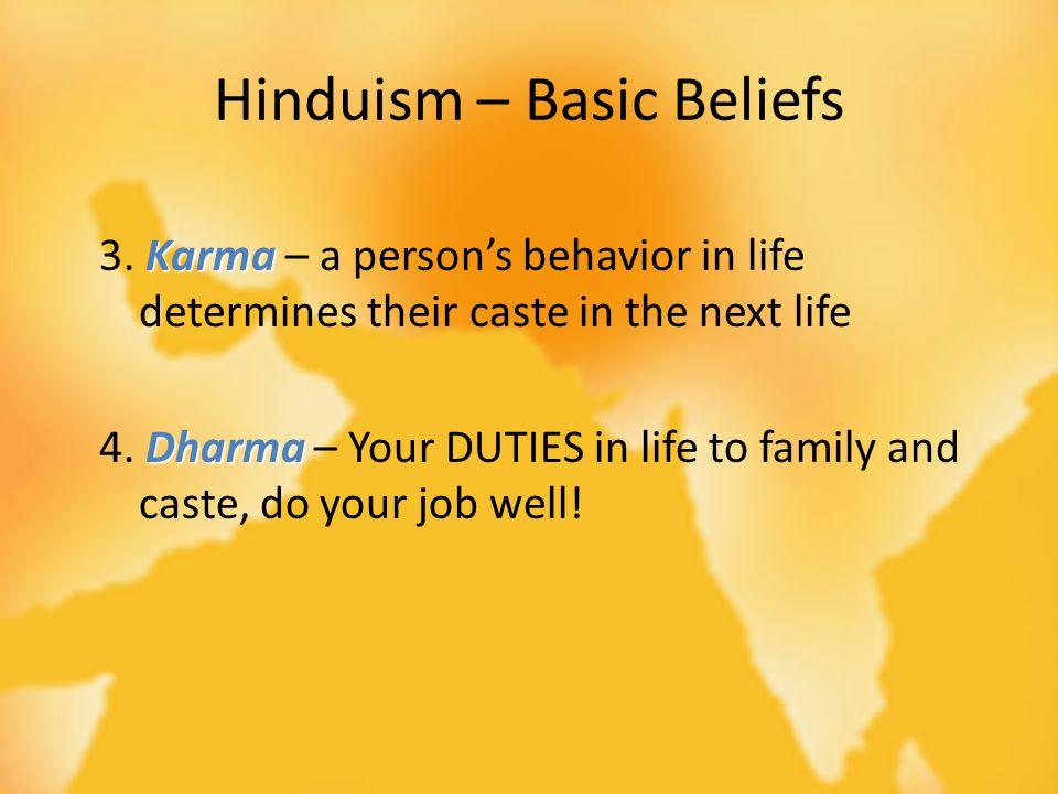 Hinduism – Basic Beliefs Karma 3.