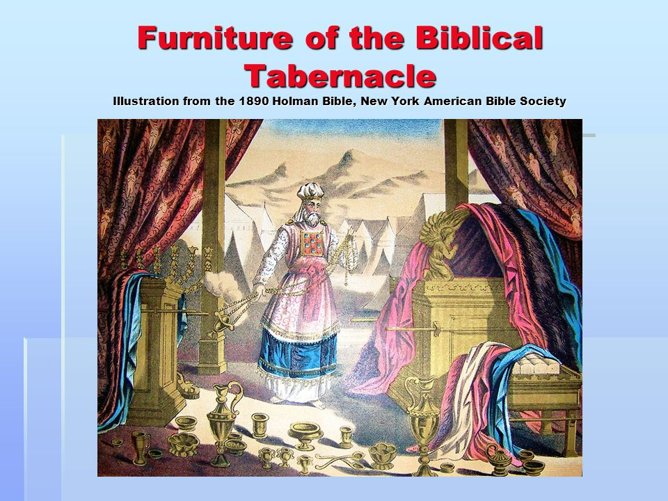 Furniture of the Biblical Tabernacle Illustration from the 1890 Holman Bible, New York American Bible Society
