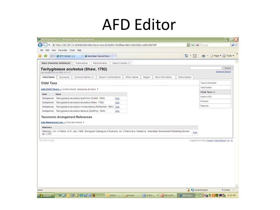 AFD Editor