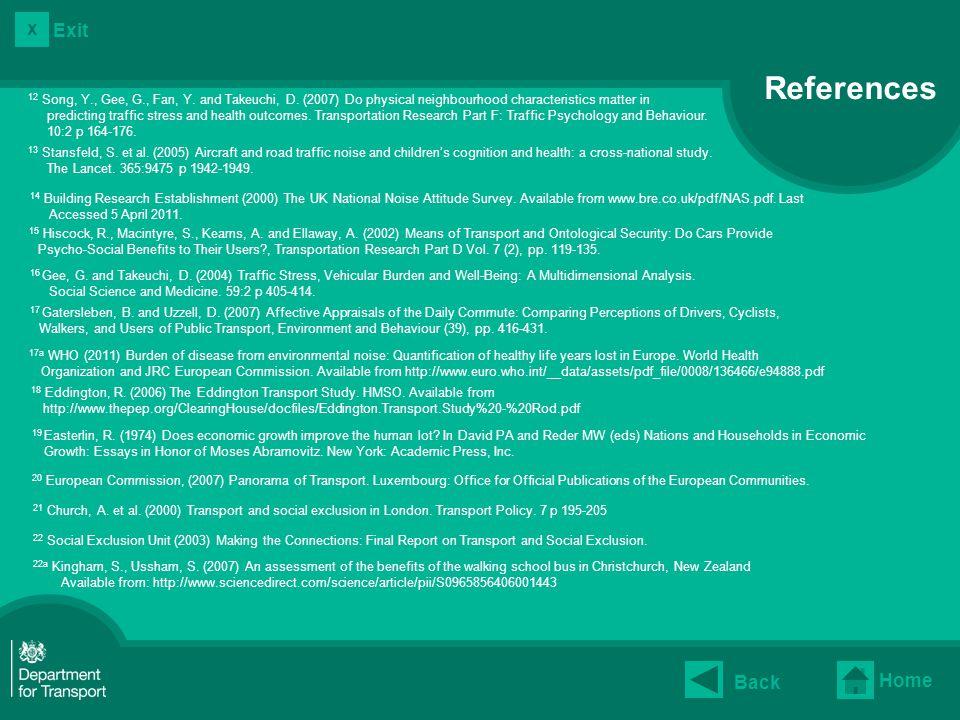 14 Building Research Establishment (2000) The UK National Noise Attitude Survey.