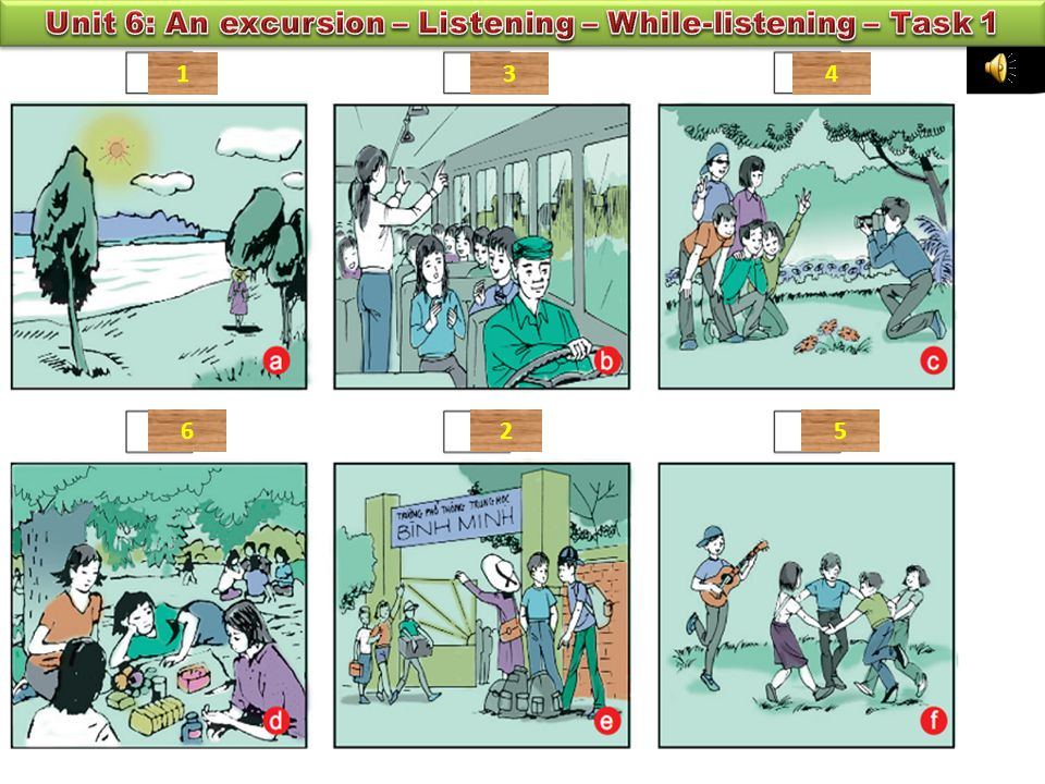 TASK 1: Listen and number the pictures in the order you hear