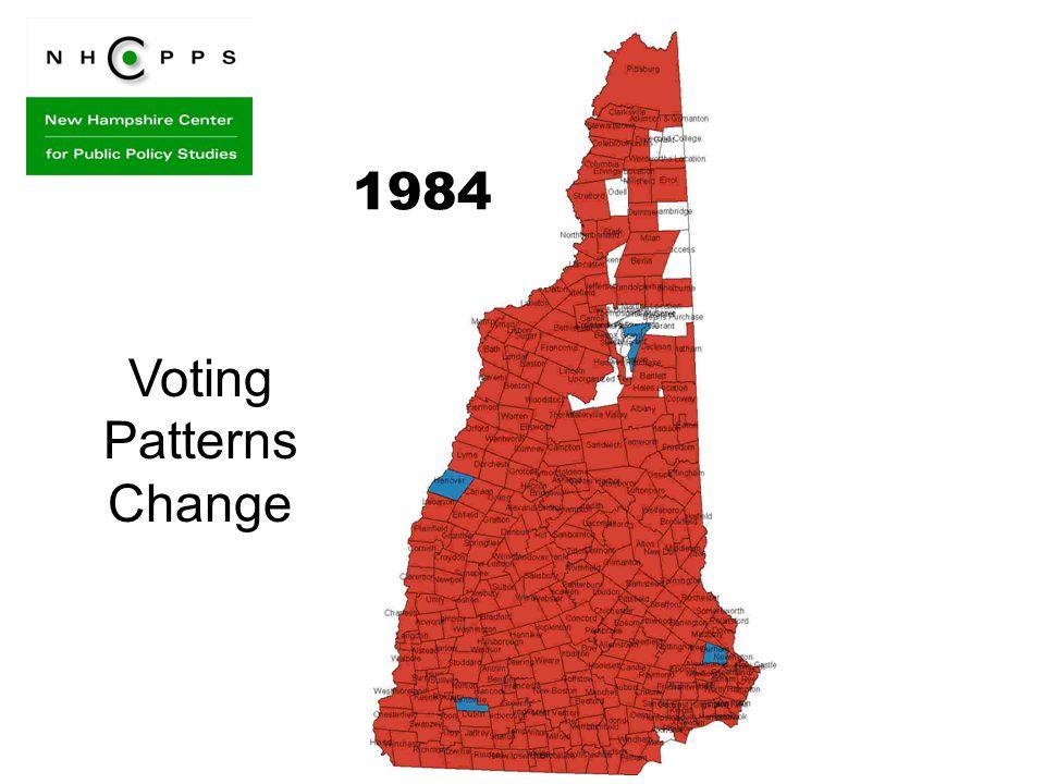 Voting Patterns Change 1984