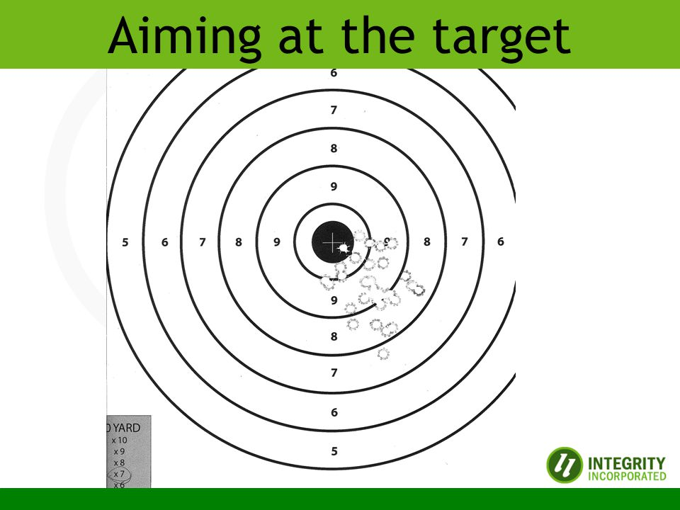 Copyright 2010 Integrity Incorporated Aiming at the target