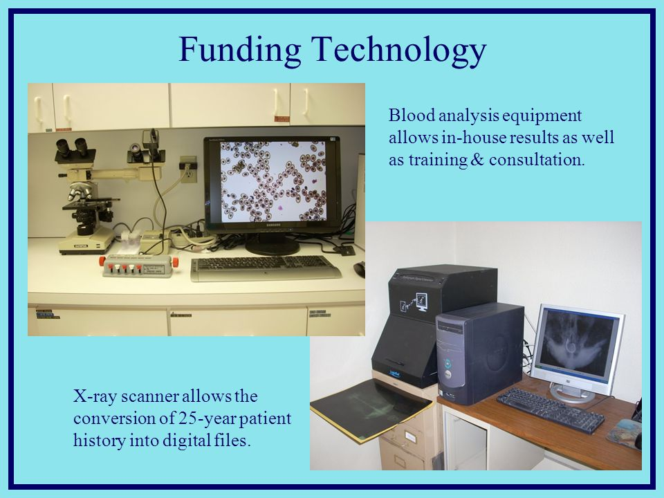 Funding Technology X-ray scanner allows the conversion of 25-year patient history into digital files.