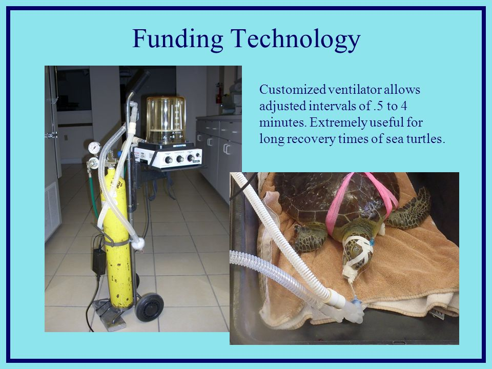 Funding Technology Customized ventilator allows adjusted intervals of.5 to 4 minutes.