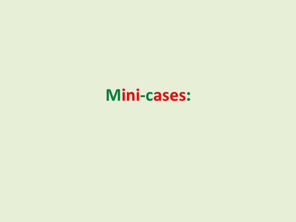 :Mini-cases