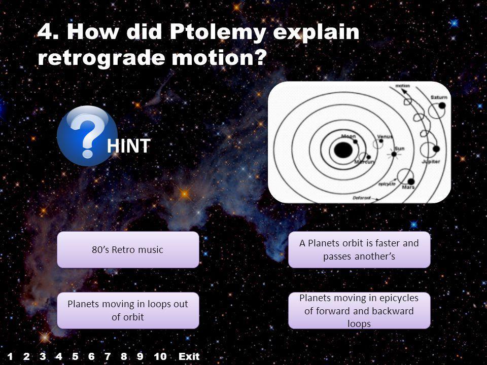 4. How did Ptolemy explain retrograde motion.