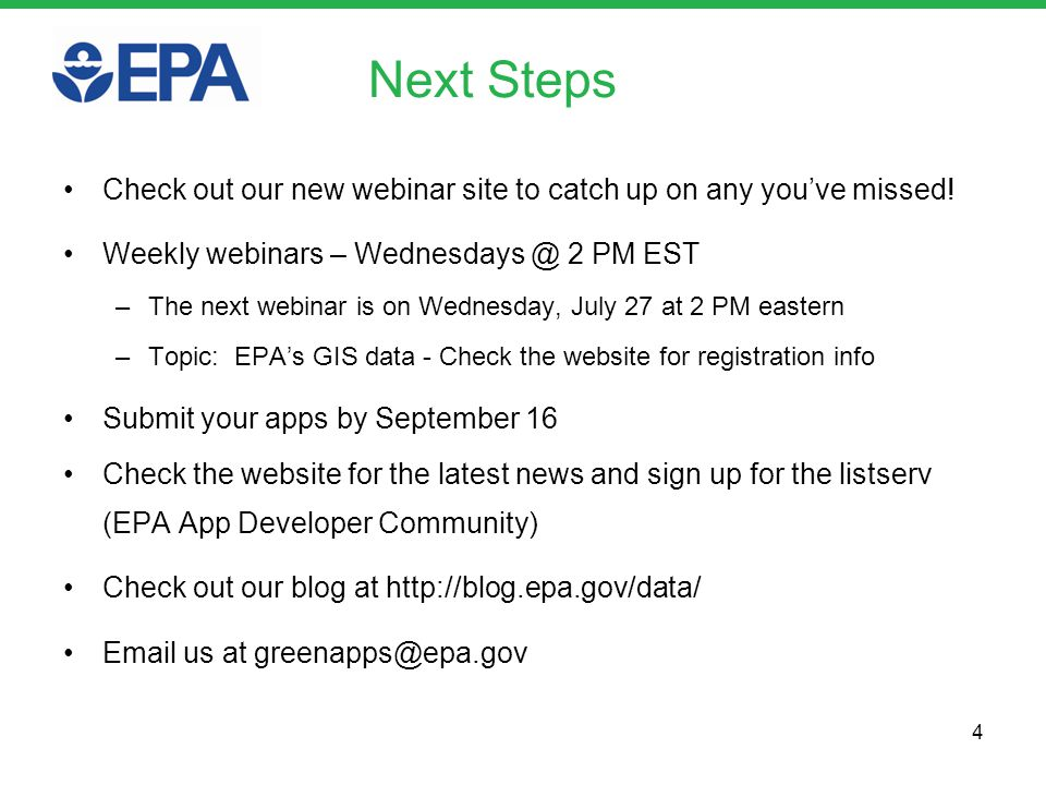 Next Steps Check out our new webinar site to catch up on any youve missed.
