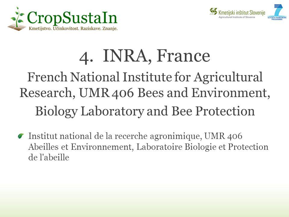 4.INRA, France Institut national de la recerche agronimique, UMR 406 Abeilles et Environnement, Laboratoire Biologie et Protection de l'abeille French