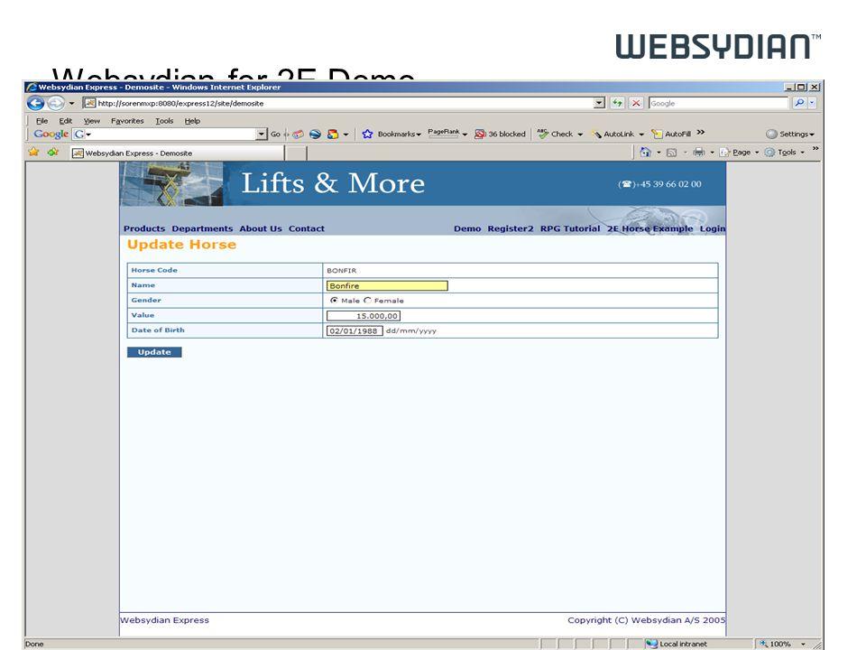 Websydian for 2E Demo