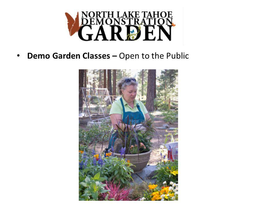 Demo Garden Classes – Open to the Public