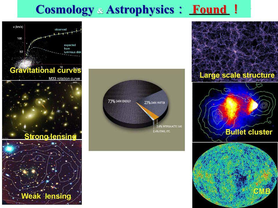 4 Cosmology & Astrophysics Found Cosmology & Astrophysics Found