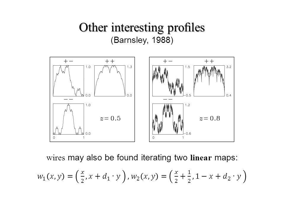 Other interesting proles Other interesting proles (Barnsley, 1988)