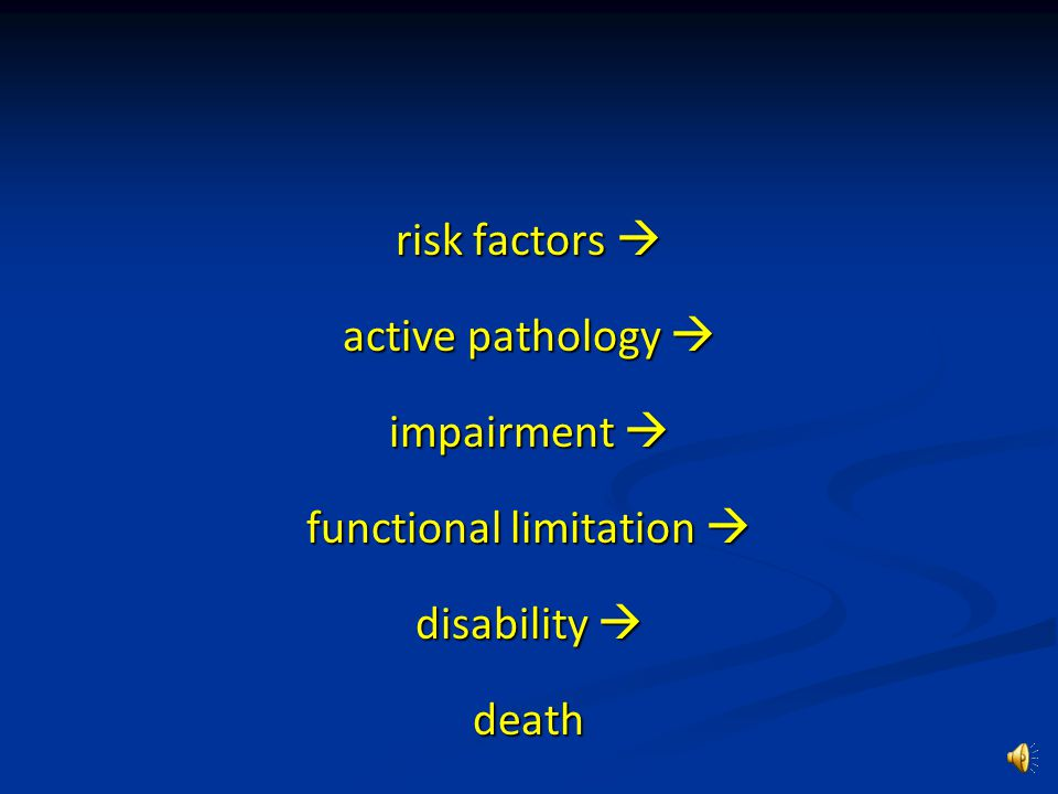 Functional decline is one of the commonest geriatric syndromes.