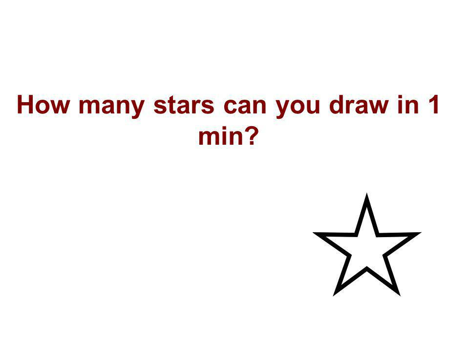 How many stars can you draw in 1 min?