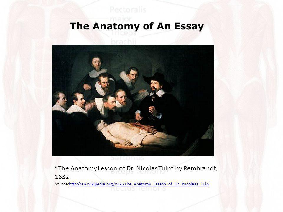 The Anatomy of a Basic College Essay Please click on any of the links in the right column below for more detailed explanation s of the parts of the essay.