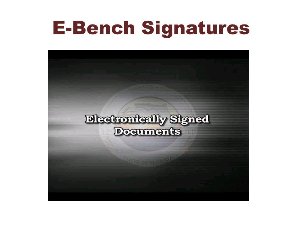 E-Bench Signatures