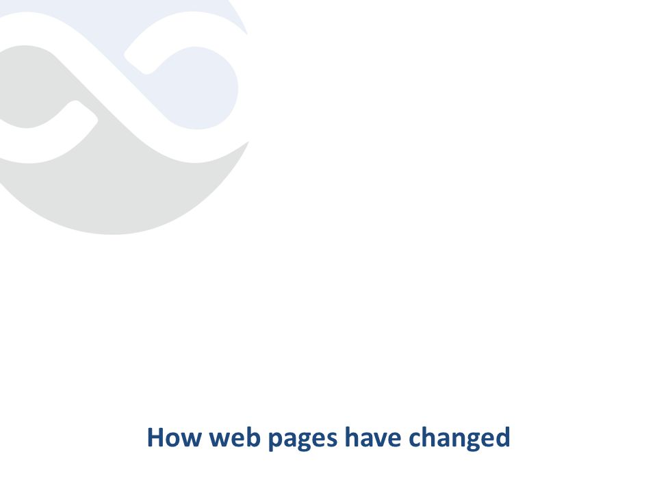 How web pages have changed