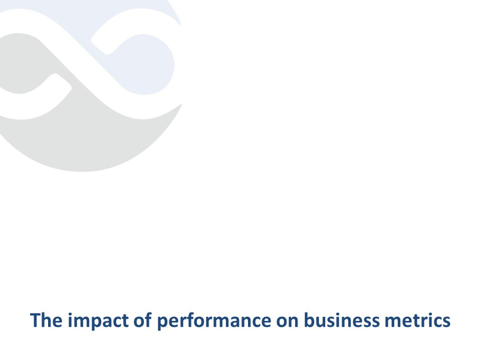 The impact of performance on business metrics