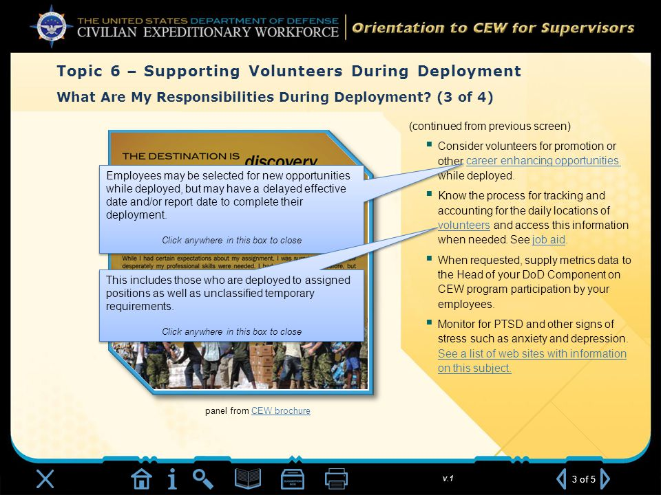 v.1 panel from CEW brochureCEW brochure What Are My Responsibilities During Deployment.