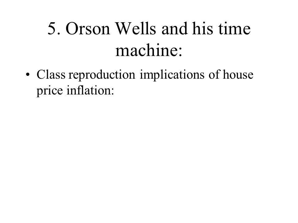 5. Orson Wells and his time machine: Class reproduction implications of house price inflation:
