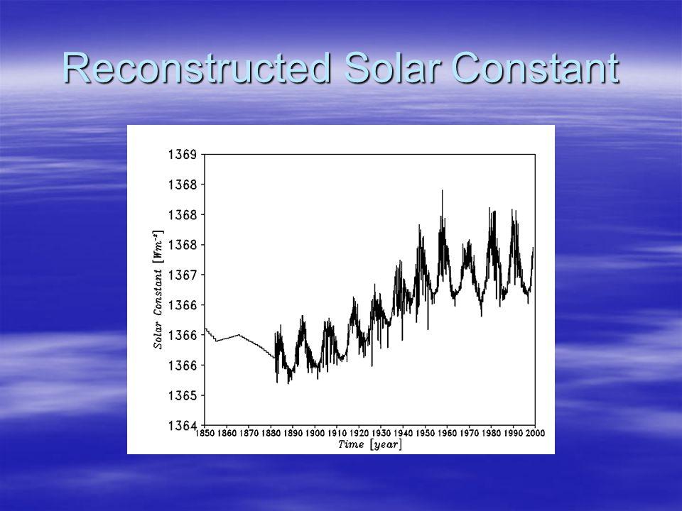 Reconstructed Solar Constant
