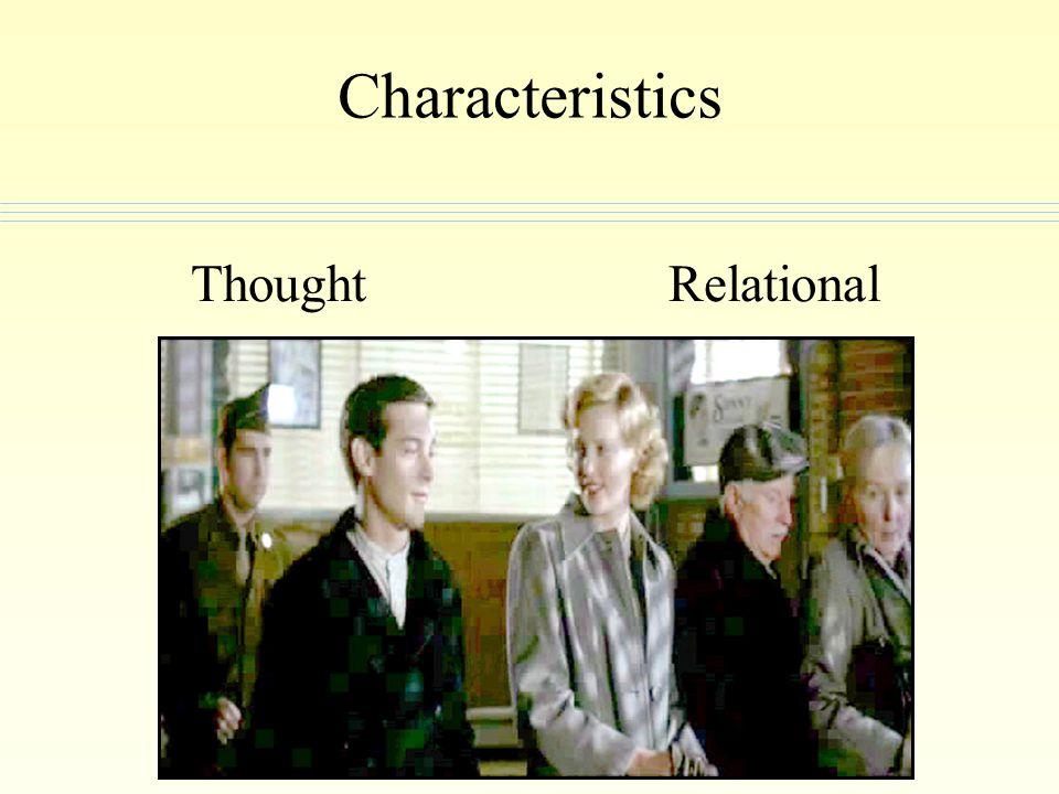 Characteristics ThoughtRelational
