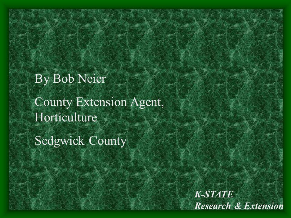 K-STATE Research & Extension By Bob Neier County Extension Agent, Horticulture Sedgwick County