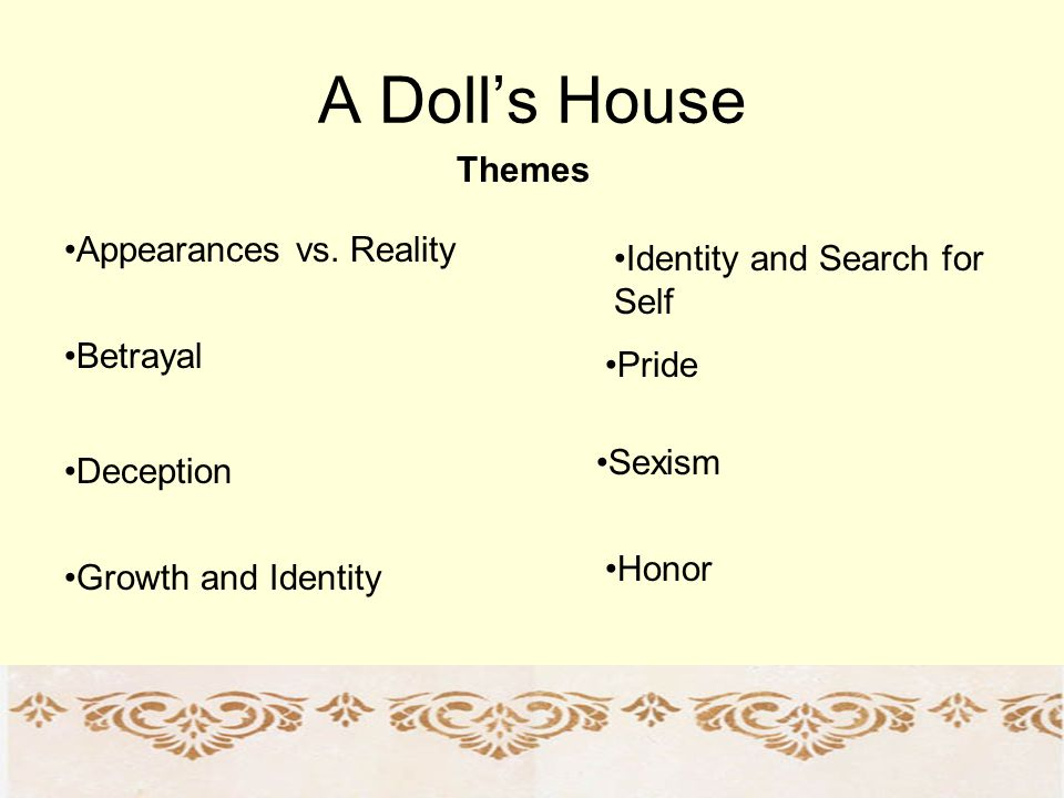 A Dolls House Themes Appearances vs.