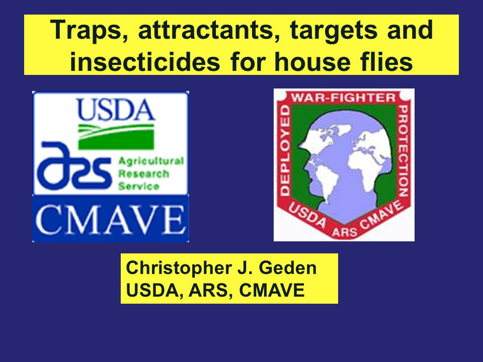 Traps, attractants, targets and insecticides for house flies Christopher J. Geden USDA, ARS, CMAVE