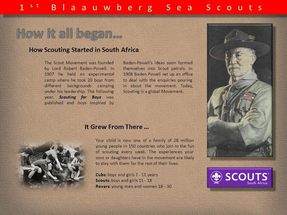 How Scouting Started in South Africa The Scout Movement was founded by Lord Robert Baden-Powell.
