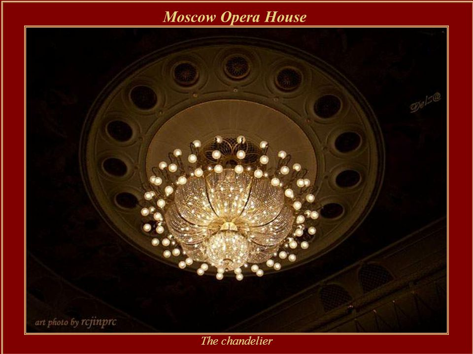 Moscow Opera House The main hall