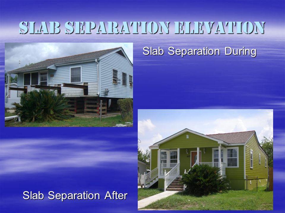 Slab Separation Elevation Slab Separation After Slab Separation During