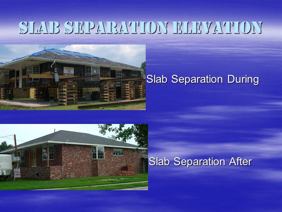 Slab Separation Elevation Slab Separation During Slab Separation After
