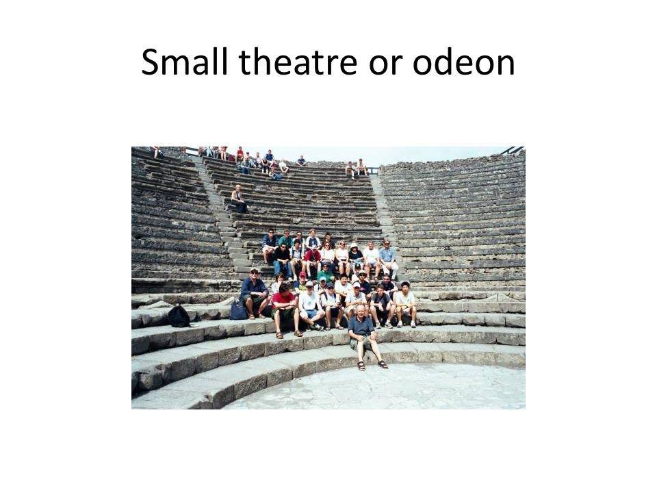 Small theatre or odeon