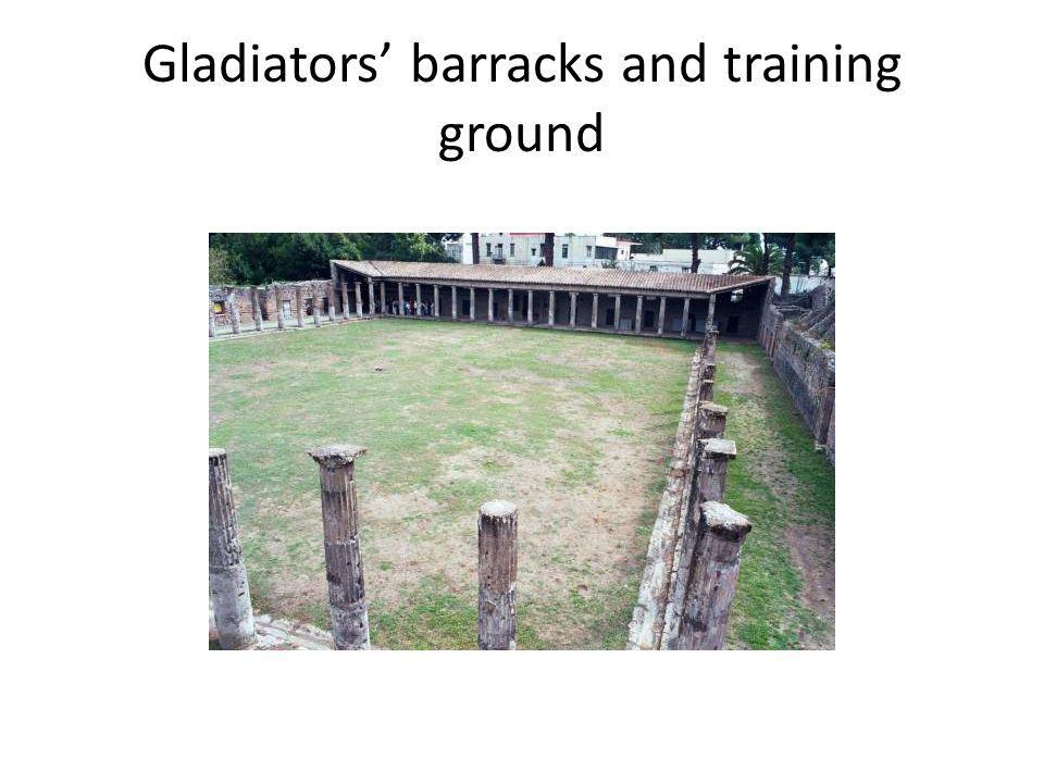 Gladiators barracks and training ground