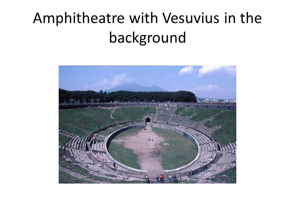 Amphitheatre with Vesuvius in the background