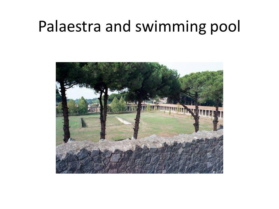 Palaestra and swimming pool