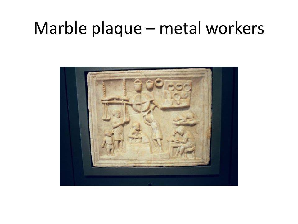 Marble plaque – metal workers